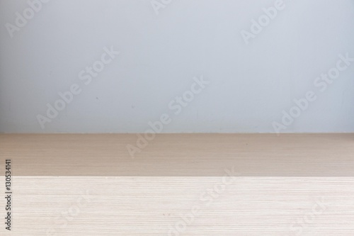 Poster Wall Modern wooden dressing table top in bed room, Interior of a modern house .