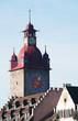 Svizzera, 08/12/2016: vista della Zyttrum, la torre Zyt con il più antico orologio della città costruito nel 1535 nella città medievale di Lucerna