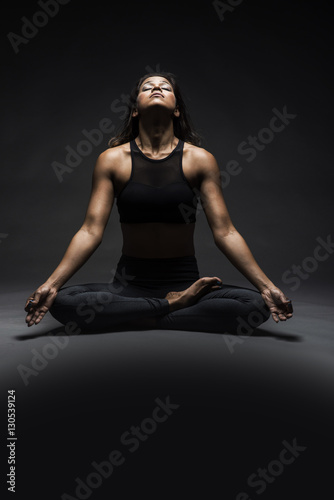 Beautiful Indian Woman In Yoga Pose Buy This Stock Photo And Explore Similar Images At Adobe Stock Adobe Stock