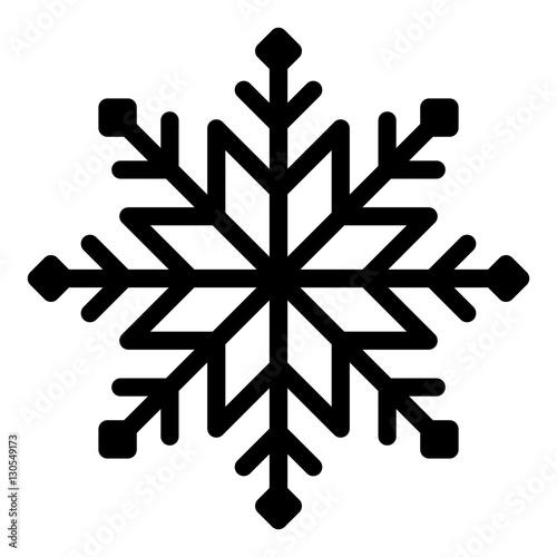 snowflake vector illustration on white background stock vector | adobe stock  adobe stock