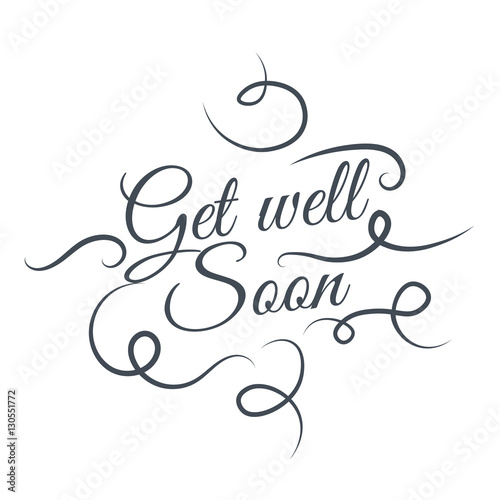 Valokuva  Get well soon Vector text background, creative color pattern.