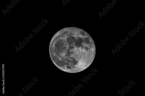 Fotobehang Volle maan Supermoon UK - Full Moon 14th December 2016