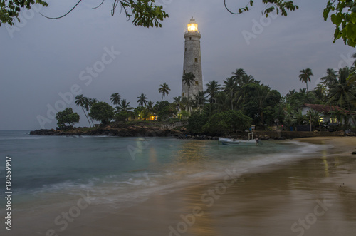 Montage in der Fensternische Leuchtturm Lighthous at Sri Lanka Coast