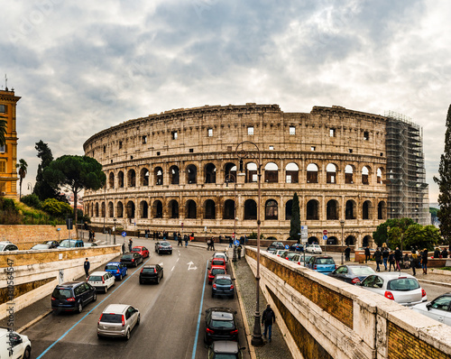 Valokuva  Colosseum or Flavian Amphitheatre in Rome, Italy