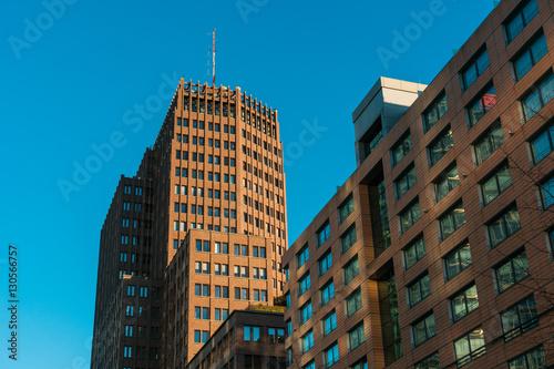 Fotografie, Obraz  modern glass and steel office buildings near Potsdamer Platz, Berlin, Germany