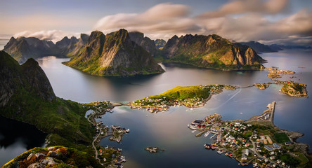 Reinefjorden panorama