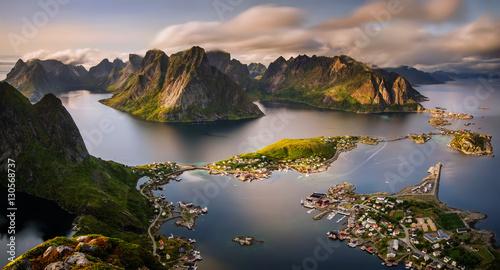 Reinefjorden panorama Canvas Print