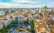 VALENCIA, SPAIN, DECEMBER 30, 2015: Aerial view of plaza de la reina square in spanish city valencia