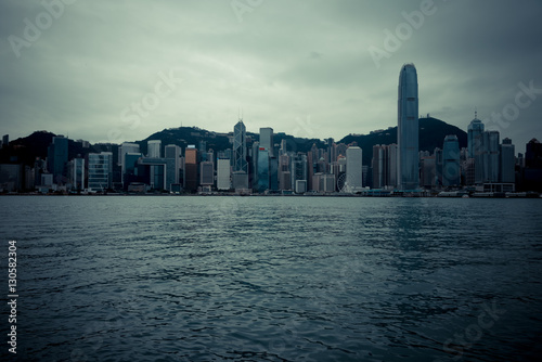 view of victoria harbor in Hong Kong,China. Poster