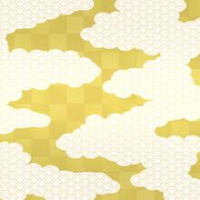 市松模様和柄 霞