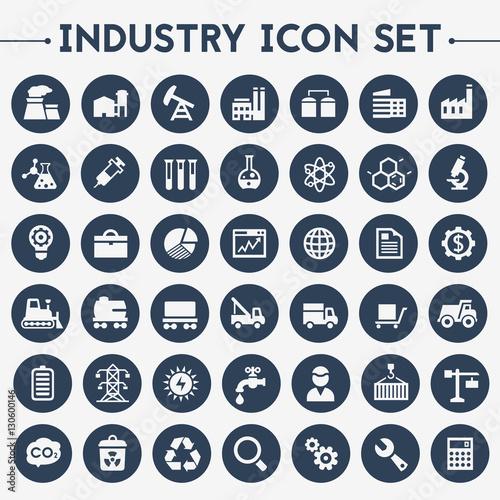 Fotografía  Big Industry icon set