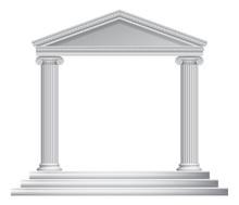 Greek Column Temple