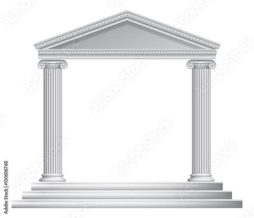 Greek Column Temple Fototapeta