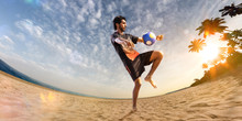 Beach Soccer Player In Action....