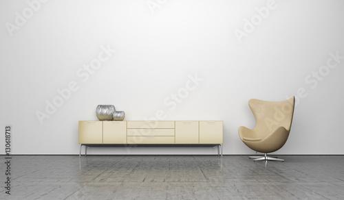 Obraz na plátne  Wohnzimmer, Design, Einrichtung, Möbel