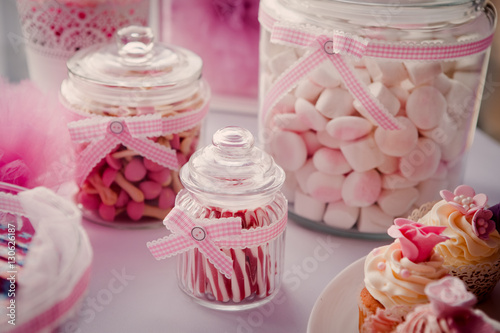 Papiers peints Dessert Candy jars