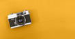 canvas print picture - Retro camera header with copy space