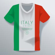 Italy Shirt : National Shirt Template : Vector Illustration