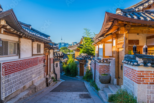 Photo sur Aluminium Seoul Bukchon Hanok Village in Seoul, South Korea