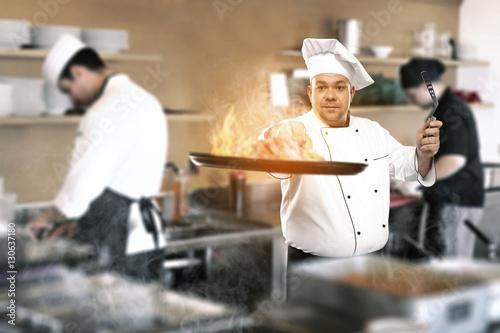 Staande foto Bakkerij cook chef