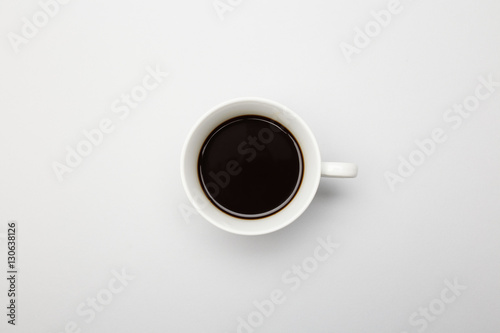 Foto op Plexiglas Cafe Top view of a cup of coffee