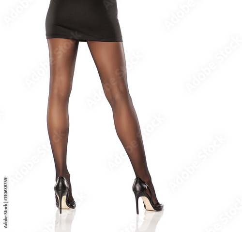Nylon legs and high heels
