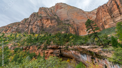Amazing Mountain Landscape A Scenic View Is Seen From Emerald Pools Trail Zion National