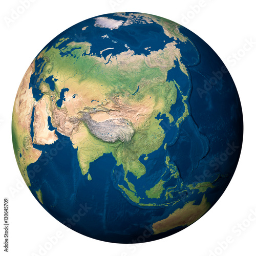 Terra Earth Map.Planet Earth Asia Pianeta Terra Asia Buy This Stock