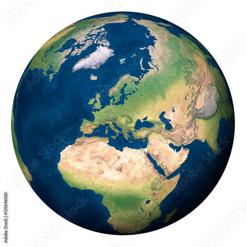 Terra Earth Map.Planet Earth Europe And Part Of Asia And Africa Pianeta Terra