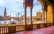 Plaza De Espana In The Spanish City Sevilla