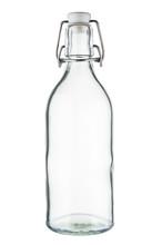 Empty Glass Bottle On White Ba...
