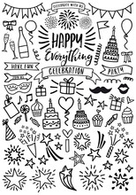 Celebration, Party, Vector Set