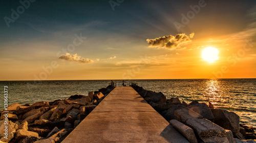 Spoed Foto op Canvas Zee zonsondergang Florida