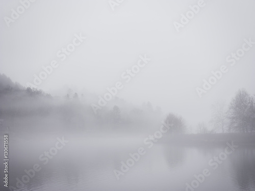 Lake view, with mist