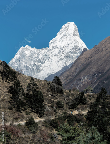 View of the Ama Dablam (6814 m) from South - Everest region, Nepal, Himalayas Poster