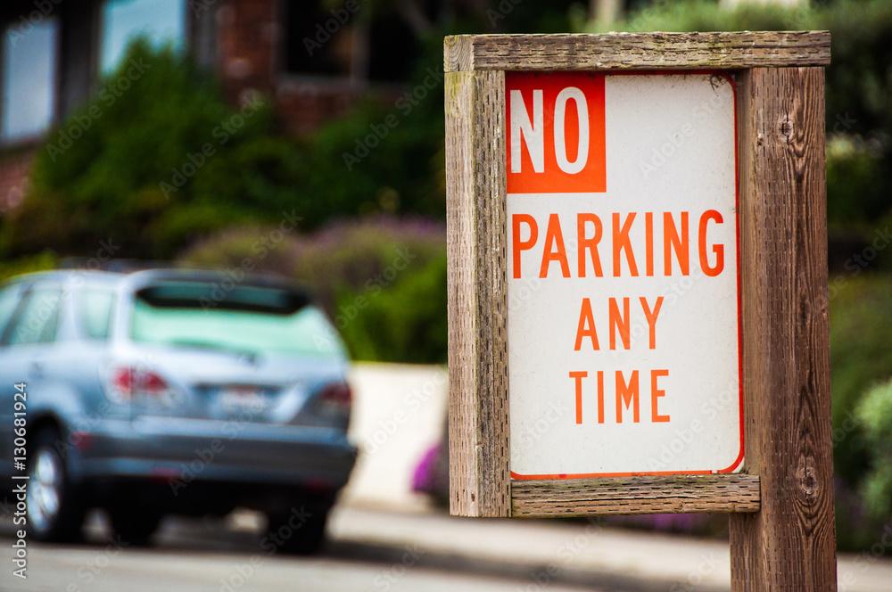 Photo  No Parking Sign