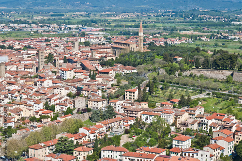 Panorama of the beautiful city of Arezzo in Tuscany - Italy