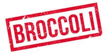Broccoli Rubber Stamp. Grunge ...