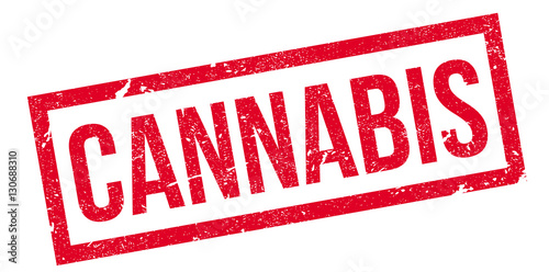 cannabis rubber stamp grunge design with dust scratches effects