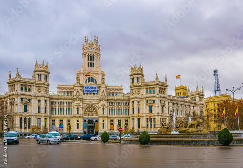 Staande foto Madrid View of Palacio de Cibeles. Madrid, Spain