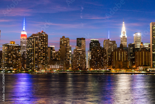 Fototapety, obrazy: Purple New York City