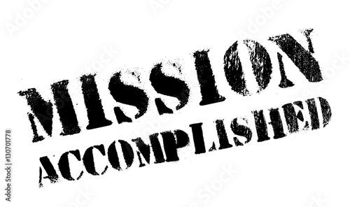 Fotografía  Mission accomplished stamp