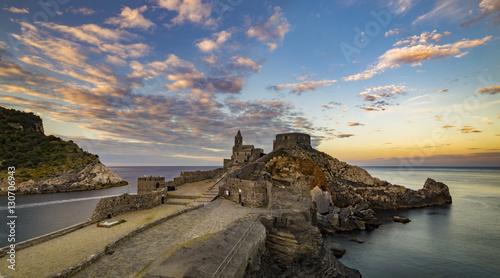 Foto auf Acrylglas Ligurien sunset in Portovenere,Liguria,Italy
