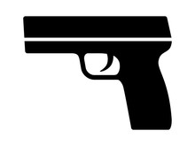 Modern Semi Automatic Pistol Gun Weapon Flat Icon For Games And Websites
