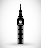 Fototapeta Big Ben - Big Ben icon vector