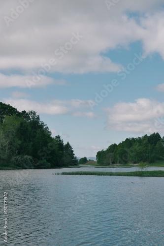 Poster Lac / Etang Scottish landscape