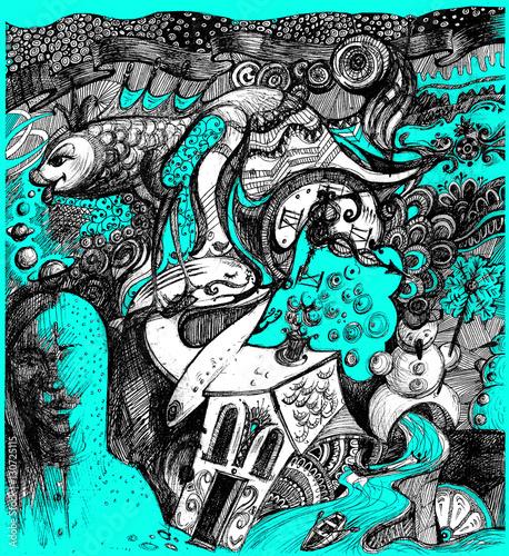 Tuinposter Imagination абстракция