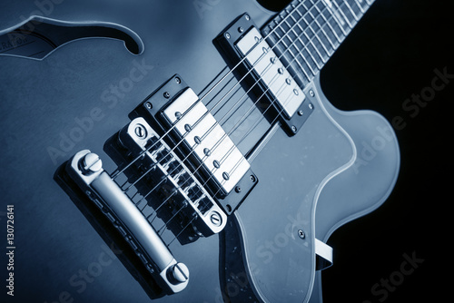 blues electric guitar close up