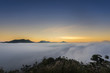 Sunrise mountain with mist, Phu Thok, Loei, Thailand