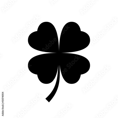 Obraz na plátne Four leaf clover icon